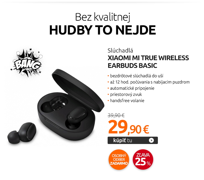 Slúchadlá Xiaomi Mi True Wireless Earbuds Basic