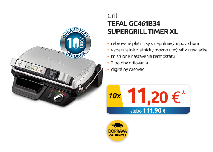 Gril Tefal GC461B34 SuperGrill Timer XL