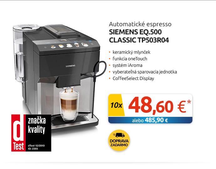 Automatické espresso Siemens EQ.500 Classic TP503R04