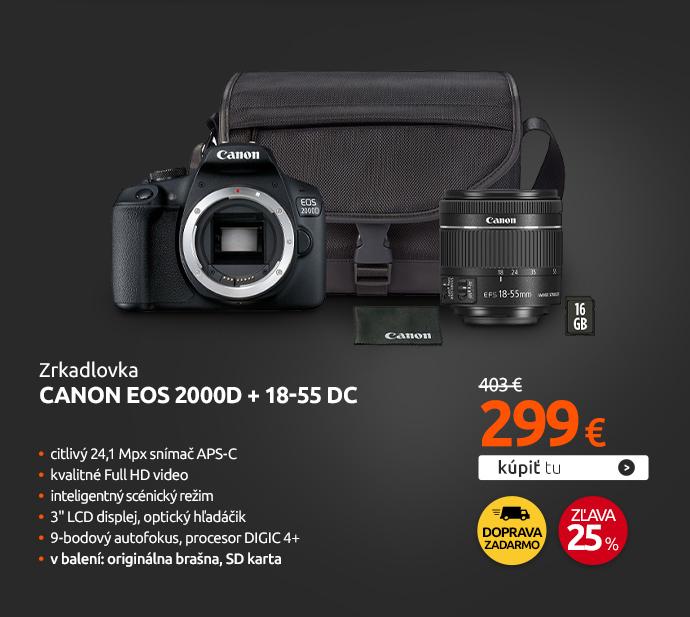 Zrkadlovka Canon EOS 2000D + 18-55 DC