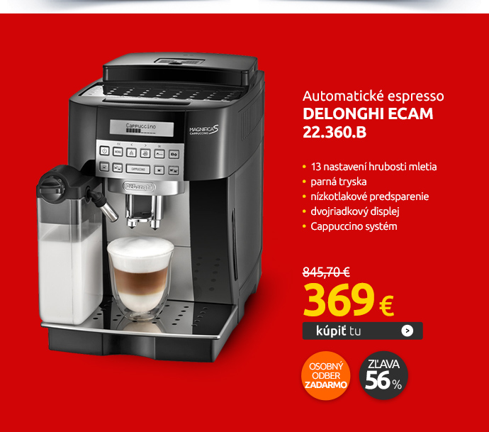 Automatické espresso DeLonghi ECAM 22.360.B
