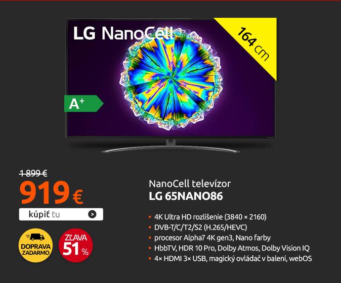 NanoCell televízo LG 65NANO86