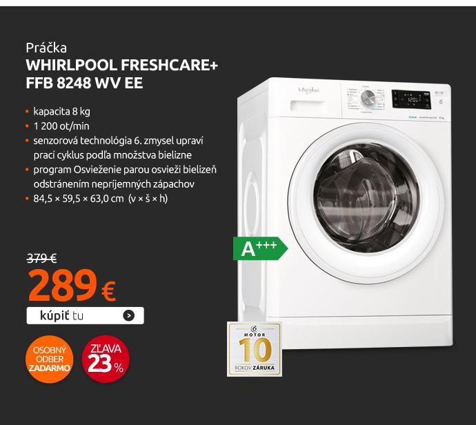 Práčka Whirlpool FreshCare+ FFB 8248 WV EE
