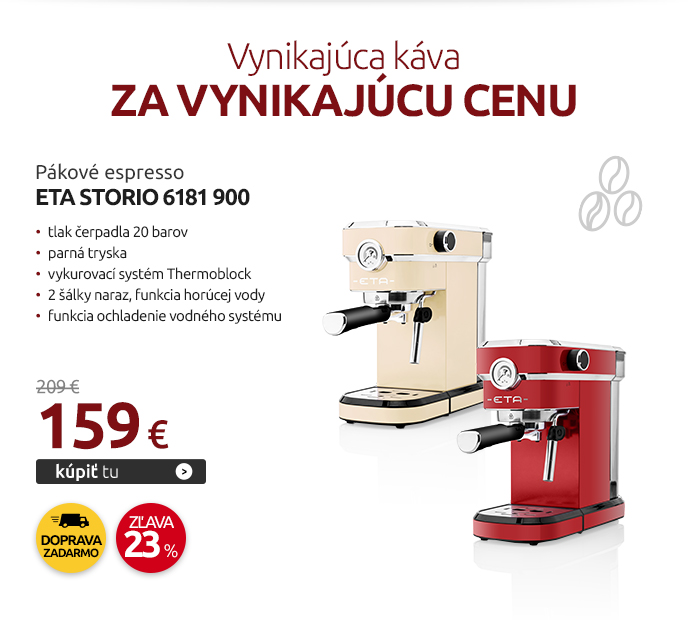 Pákové espresso ETA Storio 6181 900