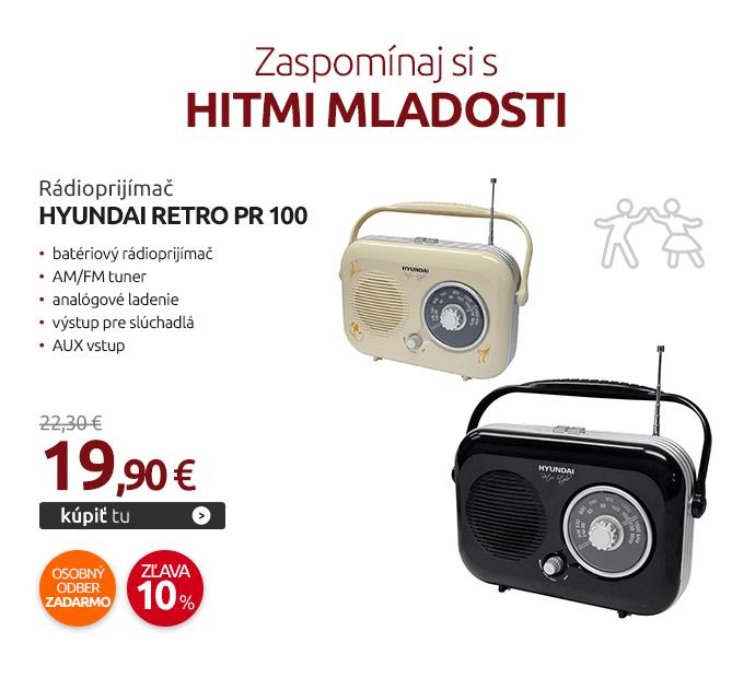 Rádioprijímač Hyundai Retro PR 100