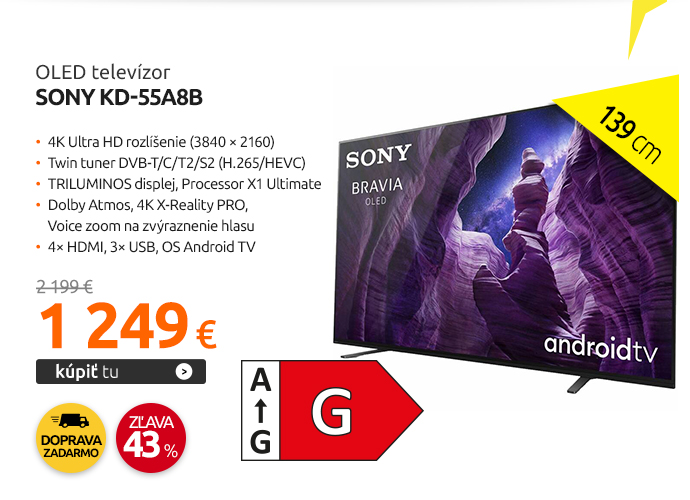 OLED televízor Sony KD-55A8B