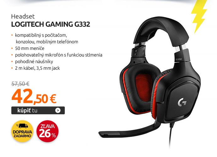 Headset Logitech Gaming G332