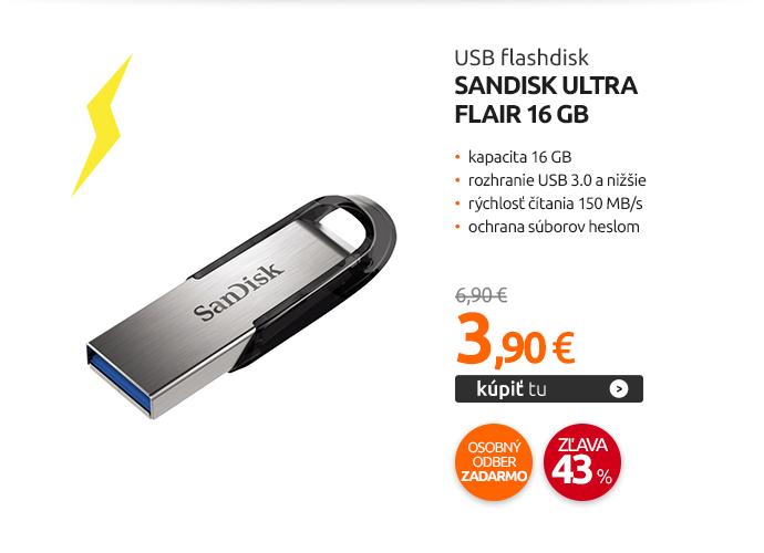 USB flashdisk Sandisk Ultra Flair 16 GB