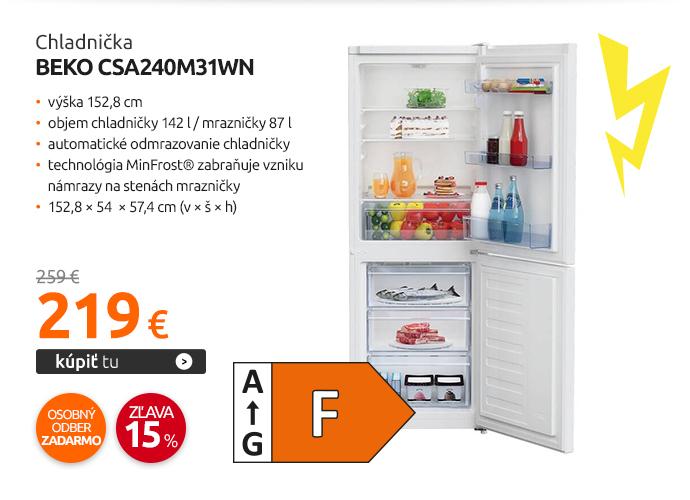 Chladnička Beko CSA240M31WN