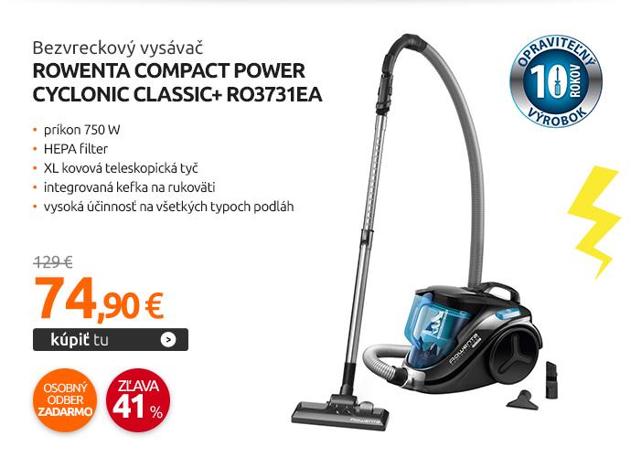 Bezvreckový vysávač Rowenta COMPACT POWER CYCLONIC CLASSIC+ RO3731EA