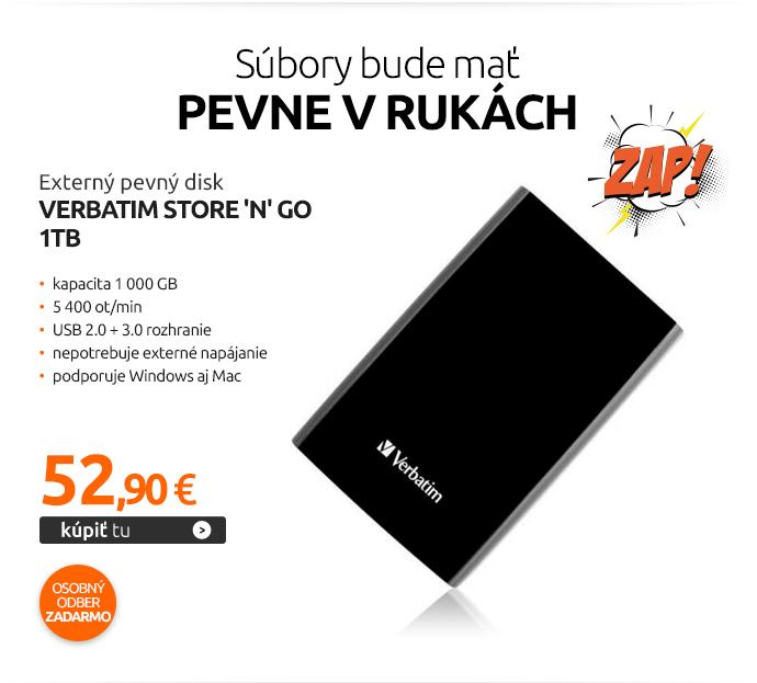 Externý pevný disk Verbatim Store 'n' Go 1TB