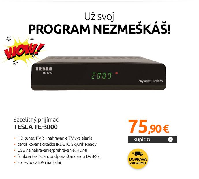Satelitný prijímač TESLA TE-3000