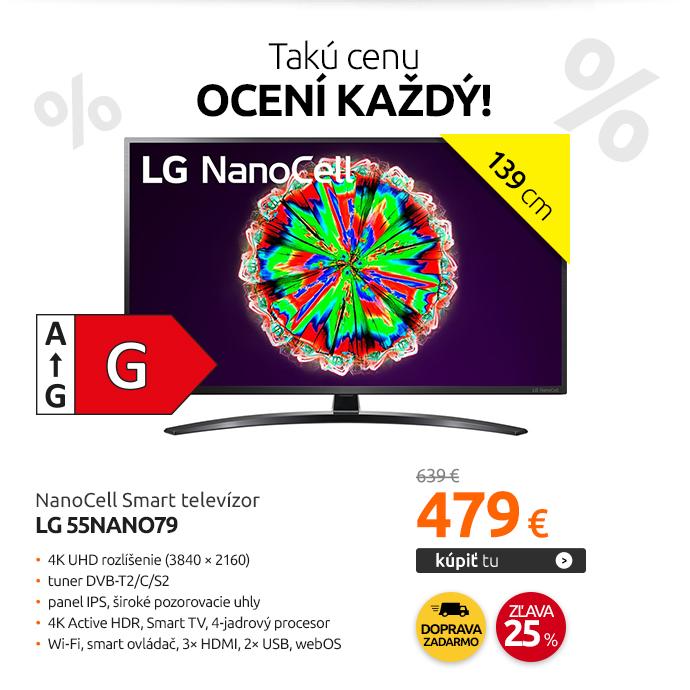 NanoCell Smart televízor LG 55NANO79