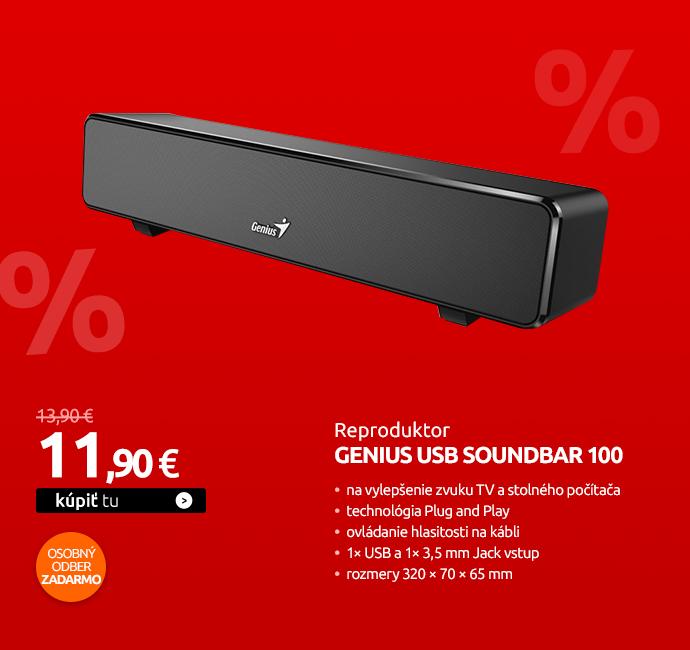 Reproduktory Genius USB SoundBar 100