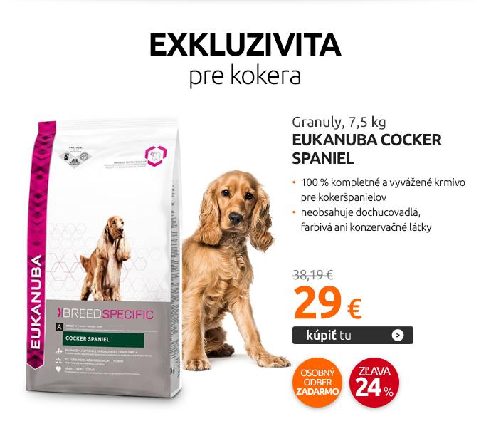 Granuly Eukanuba Cocker Spaniel, 7,5 kg