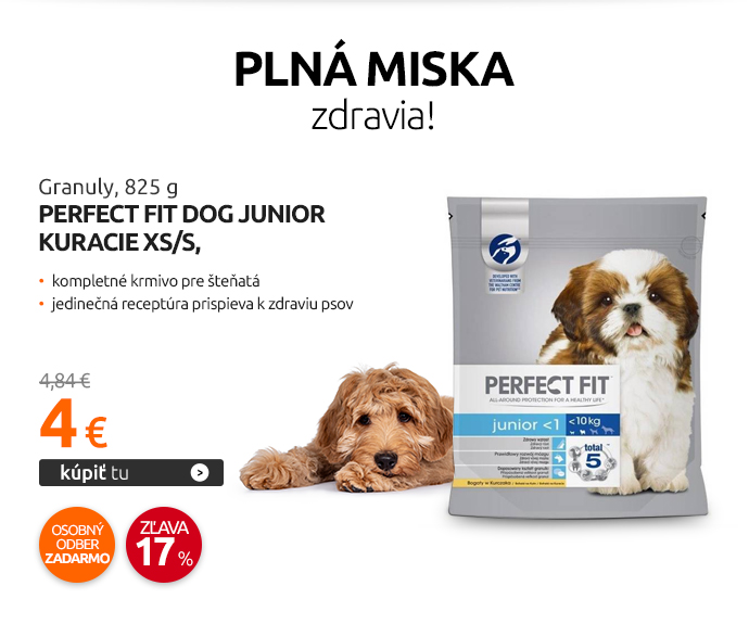 Granuly Perfect Fit Dog Junior Kuracie XS/S, 825 g