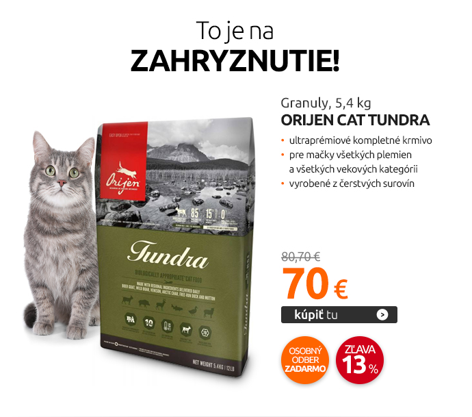 Granuly Orijen Cat Tundra, 5,4 kg