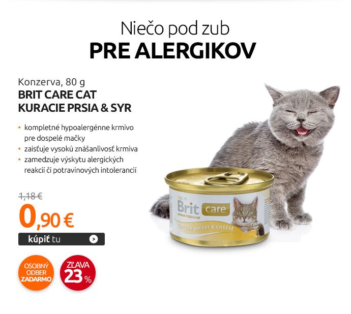 Konzerva Brit Care Cat kuracie prsia & syr, 80 g
