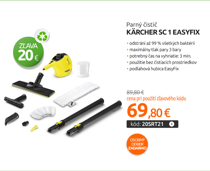 Parný čistič Kärcher SC 1 EasyFix