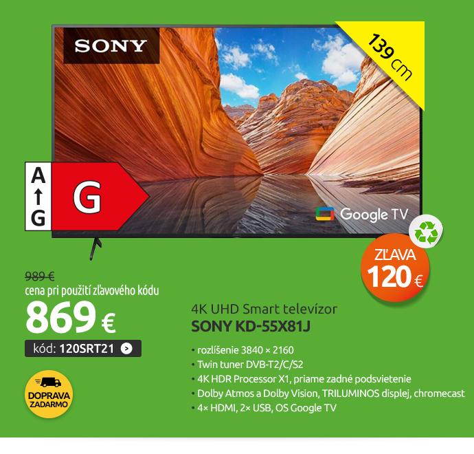 4K UHD Smart televízor Sony KD-55X81J