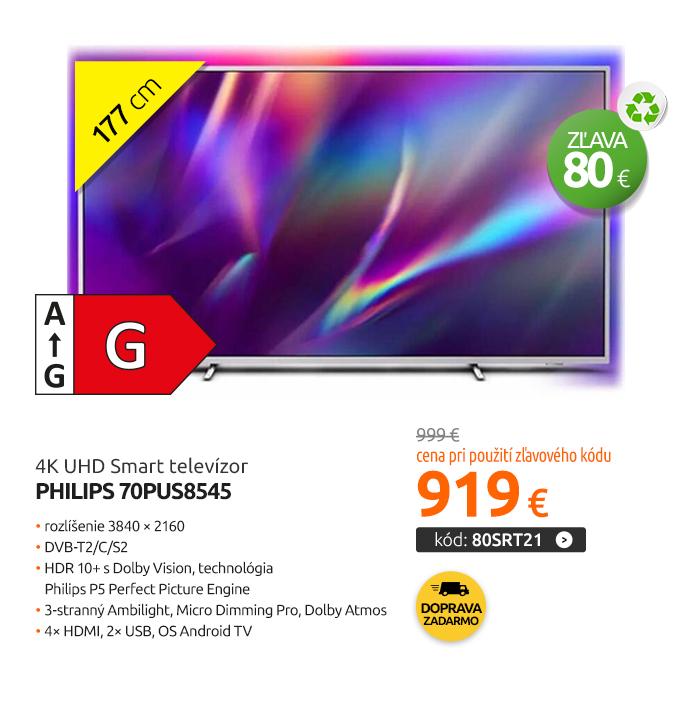 4K UHD Smart televízor Philips 70PUS8545
