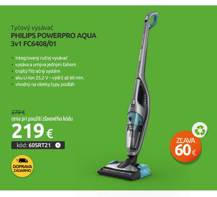 Tyčový vysávač Philips PowerPro Aqua 3v1 FC6408/01