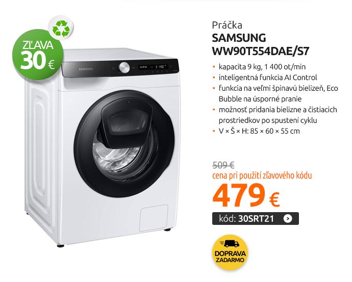 Práčka Samsung WW90T554DAE/S7