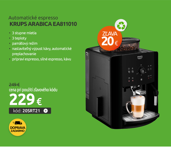 Automatické espresso Krups Arabica EA811010