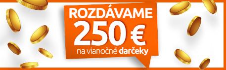 Rozdáváme 250 €