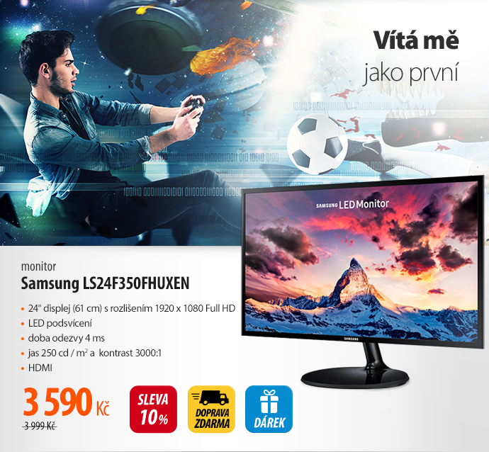 Monitor Samsung LS24F350FHUXEN