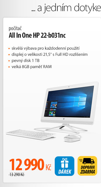 Počítač All In One HP 22-b031nc