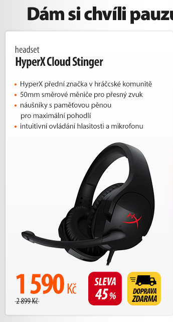 Headset HyperX Cloud Stinger