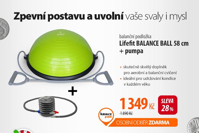 Balanční podložka Lifefit BALANCE BALL 58 cm + pumpa
