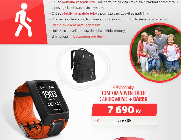 GPS hodinky TomTom Adventurer Cardio Music
