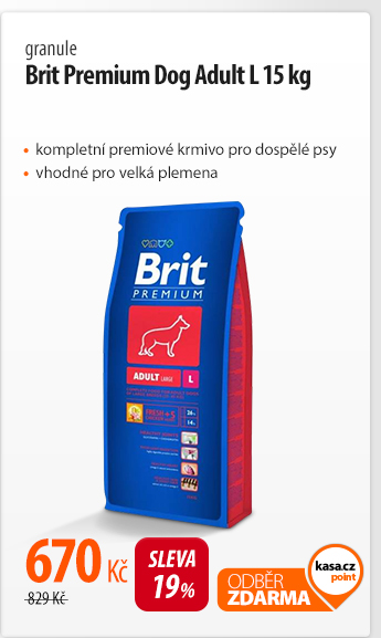Granule Brit Premium Dog Adult L 15 kg