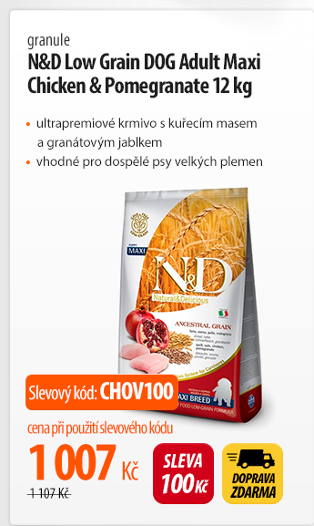 Granule N&D Low Grain DOG Adult Maxi Chicken & Pomegranat 12 kg