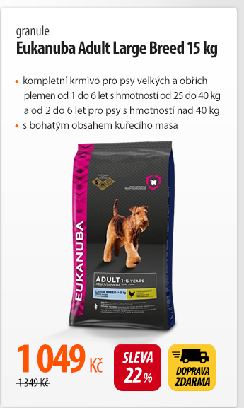 Granule Eukanuba Adult Large Breed 15 kg