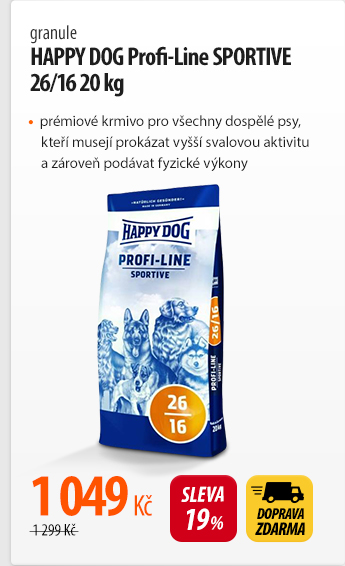 Granule HAPPY DOG Profi-Line SPORTIVE 26/16 20 kg