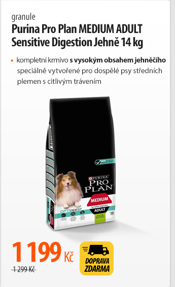 Granule Purina Pro Plan MEDIUM ADULT Sensitive Digestion Jehně 14 kg