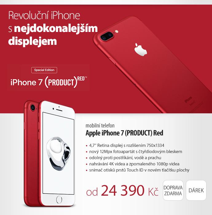 Mobilní telefon Apple iPhone 7 (PRODUCT) Red