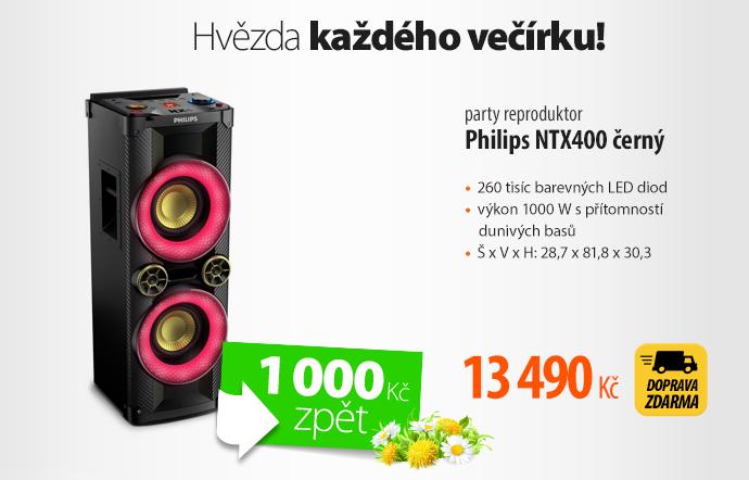Party reproduktor Philips NTX400 černý