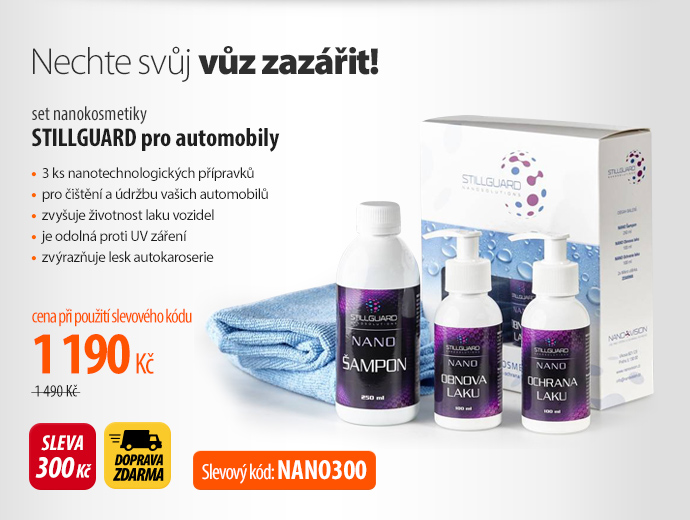 set nanokosmetiky STILLGUARD pro automobily