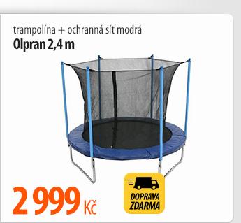 Trampolína Olpran 2, 4 m + ochranná síť modrá