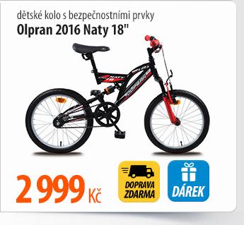 """Dětské kolo Olpran 2016 Naty 18"""" s bezpečnostními prvky"""