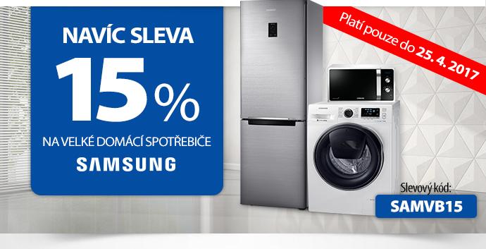 15% sleva na domácí spotřebiče Samsung