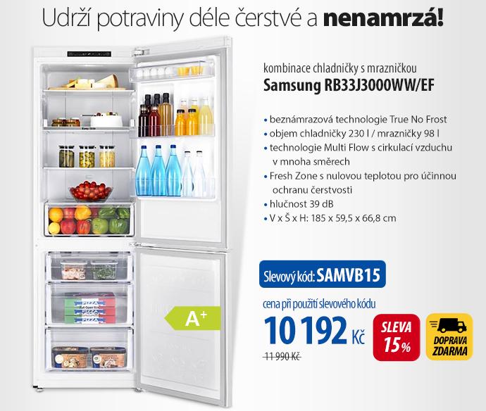 Kombinace chladničky s mrazničkou Samsung RB33J3000WW/EF