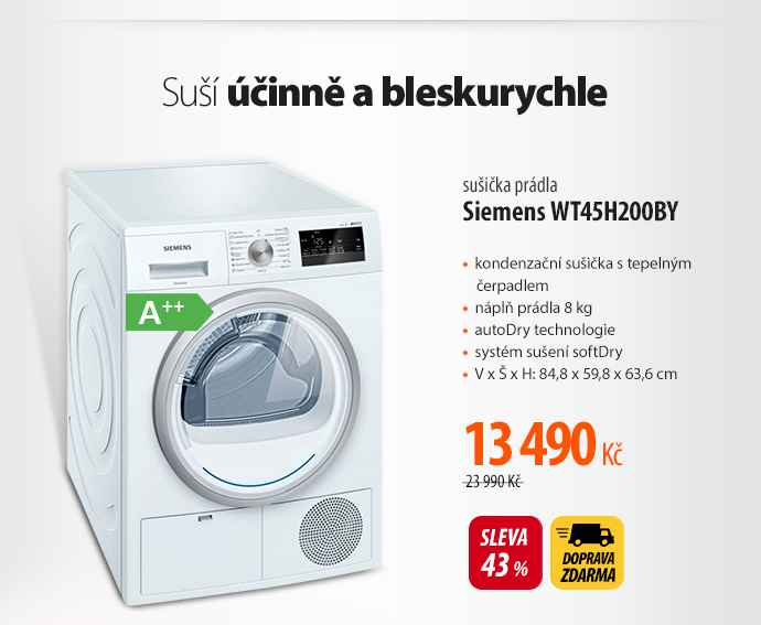 Sušička prádla Siemens WT45H200BY