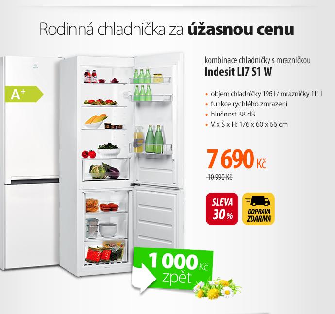 kombinace chladničky s mrazničkou Indesit LI7 S1 W
