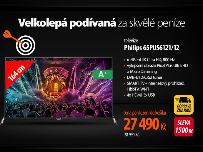 Televize Philips 65PUS6121/12 černá