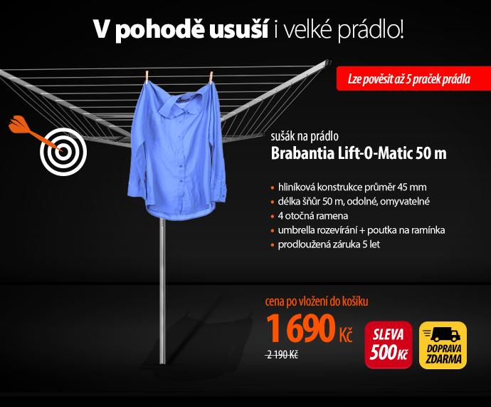 sušák na prádlo Brabantia Lift-O-Matic 50 m
